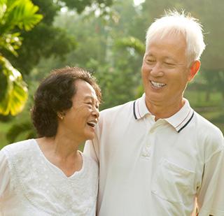 Older couple from Denver received porcelain dental crowns in Lone Tree.