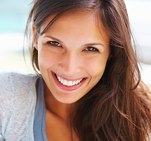 Smiling girl received cosmetic dental services in Lone Tree.